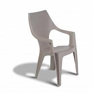 Allibert fauteuil monobloc dante cappuccino haut dossier