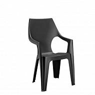 Allibert fauteuil monobloc dante graphite haut dossier