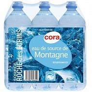 Cora eau de source de montagne Roche des Ecrins bouchon sport 6 x 75cl