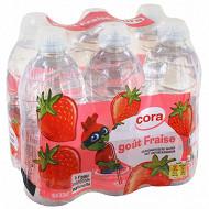 Cora kido eau minérale aromatisée fraise bouchon sport 6 x 33cl