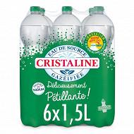 Cristaline eau de source gazéifiée 6x1,5l
