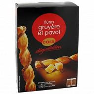 Cora dégustation flûtes gruyère et pavot 125g