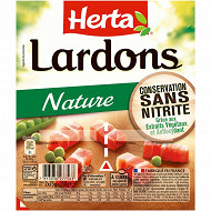 Herta lardons natures sans nitrite 2x75g