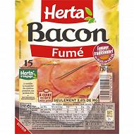 Herta bacon fumé au bois de hêtre 15 tranches 150g