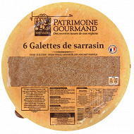 Patrimoine Gourmand 6 galettes de sarrasin 300g