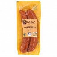 Patrimoine gourmand 2 saucisses de Montbéliard à cuire 300g
