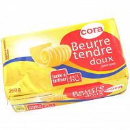 Cora beurre tendre doux plaquette 250g