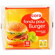 Cora fondu pour burger 10 tranches 200g