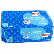 Cora beurre moulé de Bretagne doux 82% mg 500 g