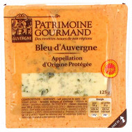 Patrimoine gourmand bleu d'Auvergne AOP au lait pasteurisé 125g