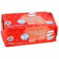 Cora beurre moulé de Bretagne demi sel 250g