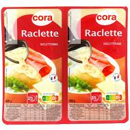Cora fromage à raclette en tranche au lait pasteurisé 28%mg 2x400g