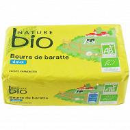 Nature bio beurre doux de baratte issu de l'agriculture biologique 250g