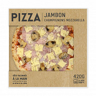 Pizza jambon mozzarella champignons 420g
