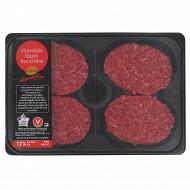 Steak haché 12% façon bouchère charolais, 4x125g