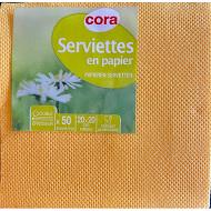 Cora serviettes x50 safran 20x20cm