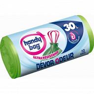 Handy bag sacs poubelle x12 dévor odeur 30l