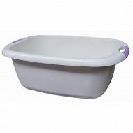 Bassine rectangle 36 litres ivoire avec poignées soft touch