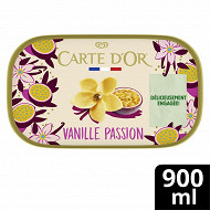 Carte d'or bac glace vanille passion 900ml - 495g