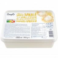 Bac glace saveur vanille 1l 500g