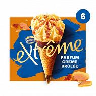 Extrême cônes crème brûlée éclats caramélisés 6x71g - 720ml 426g