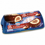 Nestlé bûche glacée aux 3 chocolats 1l 540g soit 9-10 parts