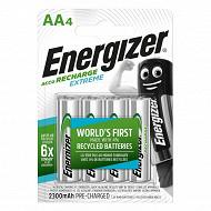 Energizer 4 piles rechargeables AA - 2300 mAh déjà chargées