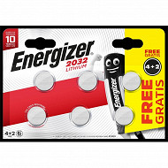 Energizer blister 6 piles CR2032 lithiuim 4+2 gt