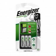 Energizer maxi chargeur + 4 piles rechargeables AA 2000 mAh déjà chargées