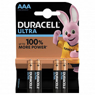 Duracell  4 piles alcalines AAA ultra power