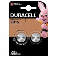Duracell 2 piles pour appareil électronique cr 2016 x 2