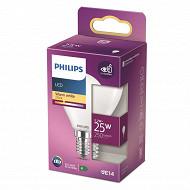 Philips ampoule LED classic 25W P45 E14 WW FR ND RF boîte de 1