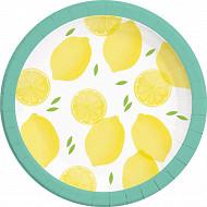 Assiettes x8 citron 23cm
