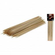 Lot de 100 piques à brochettes en bois 30 cm