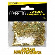 Confettis joyeus annierveaire or