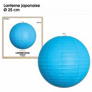 Lanterne japonaise 25cm bleue