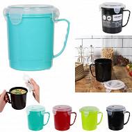 Mug soupe plastique 630 ml micro-ondable