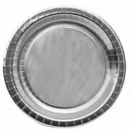 Cora assiettes argent ronde 23cm