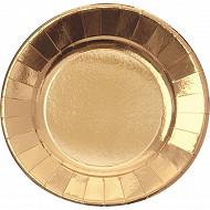 Cora assiettes x6 or ronde 29cm