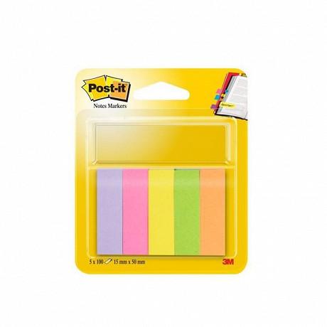 Index post-it markers 5 couleurs néons