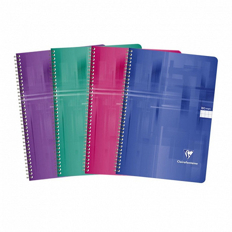 Clairefontaine cahier reliure intégrale 21x29.7 cm 180 pages seyes
