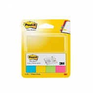 Notes post-it markers 4 couleurs 20x38mm