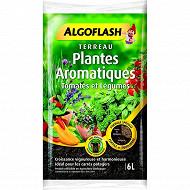 Algoflash terreau plantes aromatiques tomates et légumes en pot 6 litres