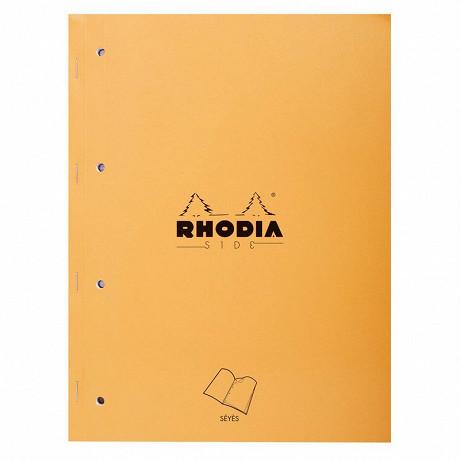 Rhodia - Cahier de notes agrafé 22.3x29.7 160 pages détachables perforées seyes
