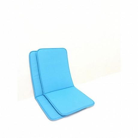 Anjosa lot de 2 coussins mono hd 88x39x1.7 cm coloris bleu uni n°23