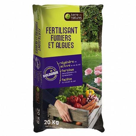 Fertilisant fumier et algues nutriflore 20 kg