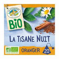 La tisanière la tisane bio nuit fleur d'oranger x20 30g