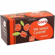 Cora thé saveur caramel 25 sachets 40g