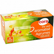 Cora thé vert agrumes 25 sachets 45g
