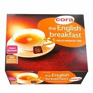 Cora thé english breakfast 100 sachets 180g